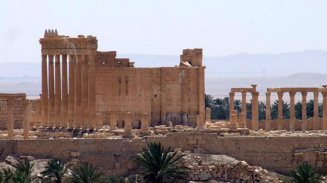 Ruins of the ancient city of Palmyra in Syria (Opens a larger version of the image)